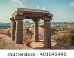 monument at hampi.karnataka... | Shutterstock . vector #401043490