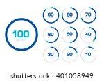 circle chart  graph. flat...   Shutterstock .eps vector #401058949