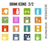 drinks icon set . | Shutterstock .eps vector #401063230