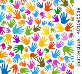 hands pattern illustration... | Shutterstock .eps vector #401065516