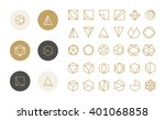 collection of thin 30 icons and ... | Shutterstock .eps vector #401068858