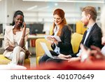 business people conversation... | Shutterstock . vector #401070649