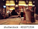 pub blurred background bokeh... | Shutterstock . vector #401071534