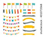 collection of flags garland.... | Shutterstock .eps vector #401072068