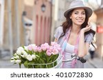 fashion style photo of a spring ...   Shutterstock . vector #401072830