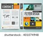 modern flyers magazine cover... | Shutterstock .eps vector #401074948