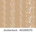 white ornamental seamless... | Shutterstock .eps vector #401085070