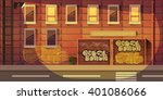 city game background 2d game... | Shutterstock .eps vector #401086066
