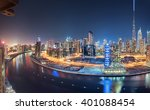 dubai panoramic view from top... | Shutterstock . vector #401088454