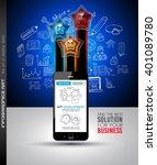 infographics complex layout... | Shutterstock . vector #401089780