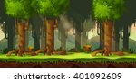 forest game background 2d game ... | Shutterstock .eps vector #401092609