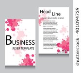 vector brochure flyer design... | Shutterstock .eps vector #401094739