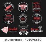 set of music production logo...   Shutterstock . vector #401096650