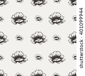 seamless pattern in a rustic... | Shutterstock .eps vector #401099944