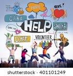 give help donate welfare... | Shutterstock . vector #401101249