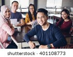 portrait of friends having fun... | Shutterstock . vector #401108773