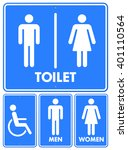 four isolated various toilet... | Shutterstock .eps vector #401110564