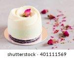 mini mousse pastry dessert... | Shutterstock . vector #401111569