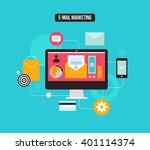 e mail marketing | Shutterstock .eps vector #401114374