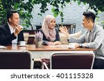 portrait of creative business... | Shutterstock . vector #401115328
