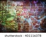 Graffiti Brick Wall  Colorful...