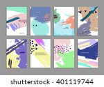 set of hand drawn universal... | Shutterstock .eps vector #401119744