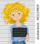 illustration of a drunk teenage ... | Shutterstock .eps vector #401119819