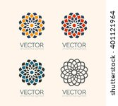 geometric logo template set....   Shutterstock .eps vector #401121964