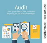 auditing concepts. auditor at... | Shutterstock .eps vector #401136220