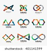 vector infinity logo set  flat... | Shutterstock .eps vector #401141599
