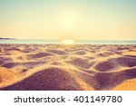 beautiful beach sand and sea at ... | Shutterstock . vector #401149780