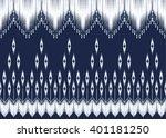 geometric ethnic oriental ikat... | Shutterstock .eps vector #401181250