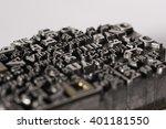 metal letterpress types. a... | Shutterstock . vector #401181550
