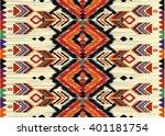geometric ethnic oriental ikat... | Shutterstock .eps vector #401181754
