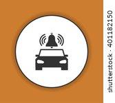 car alarm icon. flat design... | Shutterstock . vector #401182150
