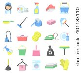 cleaning icons set. | Shutterstock .eps vector #401183110