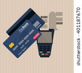 payment with dataphone design ...   Shutterstock .eps vector #401187670