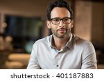 portrait of a young handsome... | Shutterstock . vector #401187883