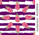 seamless tropical pattern with... | Shutterstock .eps vector #401189818