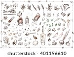 set sketch illustrations and... | Shutterstock .eps vector #401196610