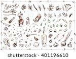 set sketch illustrations and... | Shutterstock .eps vector #401196610