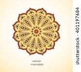 ornamental colorful mandala on... | Shutterstock .eps vector #401197684