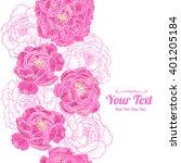 vector  peonies flowers... | Shutterstock .eps vector #401205184