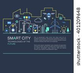 smart city vector concept.... | Shutterstock .eps vector #401209648