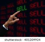 hand push sell | Shutterstock . vector #401209924