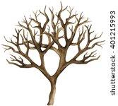 Watercolor Dry Tree  Bare Tree  ...