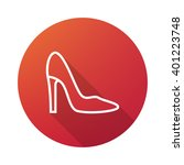 woman shoe outline icon white...