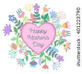 happy mother's day vector... | Shutterstock .eps vector #401223790