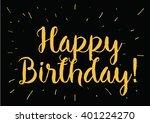 happy birthday inscription.... | Shutterstock .eps vector #401224270