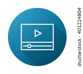 video player outline icon white ...